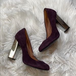 Sigerson Morrison Purple Suede Pumps sz 7